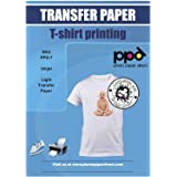 PPD Inkjet Iron-On Light T Shirt Transfer Paper A3 Pack of 10 Sheets PPD007-10