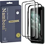 Nambosi Screen Protector for iPhone 11 Pro Max Tempered Glass Film/Full Coverage/High Definition/Anti Fingerprint /9H Hardnes