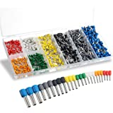 Wire Ferrules Sopoby Insulated Crimp Pin Terminal Kit for Electrical Projects AWG 24-10 8 Sizes
