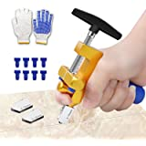 Manual Tile Cutter, 2 in 1 Glass Tile Cutter Hand Tool with Glass Breaking Pliers, Mirror Cutting Kit with 3 Tungsten Steel B