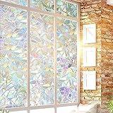 3D Window Glass Privacy Film, Window Decorative Rainbow Decals Anti UV Static Self-Adhesive Clings Stickers