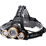 Helius LEDヘッドライト usb充電式 明るい 12000ルーメン センサー 電気出力 電量ディスプレイ可能 超高輝度 3 x XM-L T6 LED ライト ヘッドランプ 4モード ヘルメットライト 防水 防災 小型軽量 ズーム式 登山 夜
