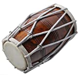 PROFESSIONAL QUALITY DHOLAK DRUM~HAND MADE INDIAN~SHESHAM WOOD & SPECIAL SKIN