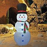 GOOSH 6Foot High Christmas Inflatable Blow up Snowman Yard Decoration, Indoor Outdoor Garden Inflatable Christmas Decoration.