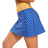 Ibeauti Womens Athletic Stretch Tennis Golf Skirts Skorts with Hidden Pockets Shorts Underneath Quick Dry