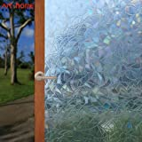 Arthome Window Film 3D Privacy Film No Glue Self Static Cling Anti UV Removable for Home Living Room Bedroom Bathroom Kitchen