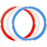 ZLR 3 Pack Silicone Sealing Rings for Instant Pot 3 Quart Color (Red, Clear and Blue) Fits IP-DUO Mini 3qt, IP-LUX Mini 3 qt,