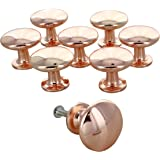 G Decor England Set of 8 Copper Door Knobs Contemporary Cabinet Pulls for Cabinets, Drawers and Dressers–Decorative Drawer Kn