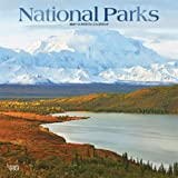 National Parks 2021 12 x 12 Inch Monthly Square Wall Calendar with Foil Stamped Cover, USA United States of America Scenic Na