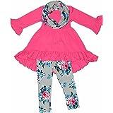 Unique Baby Girls 3 Piece Spring Colors Floral Legging Set