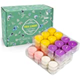 Tealight Candles Scented 48 Pack 192h(4h x 48pcs) Long Burining Colored Soy Tea Lights Candle Small Candles Bulk Lavender, Le
