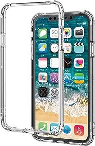エレコム iPhone 11 Pro Max ケース ハイブリッドバンパー 耐衝撃+軽量[エアークッションで四隅を保護] クリア PM-A19DHVBCR