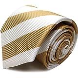 MICHIKO LONDON(ミチコロンドン) ブランドネクタイ 日本製 西陣織 シルク100% ジャガード織 織柄 ブロックストライプ