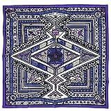 HERMES スカーフ カレ (エルメス) HERMES スカーフ カレ 90 ツイル ORS BLEUS D'AFRIQUE バイオレット/ホワイト/アイボリー 27442 [並行輸入品]