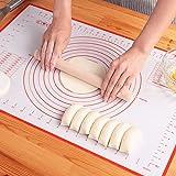 クッキングマット シリコンマット 40×50㎝ 大きいサイズ 製菓マット パンマット 目盛り付きマット 食品級シリコーン 滑り止め 調理 製菓道具