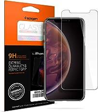 【Spigen】 iPhone XS Max 対応 ガラスフィルム 強化ガラス 液晶保護フィルム 高透過率 3DTouch対応 065GL24540 (GLAS.tR SLIM (1枚入))