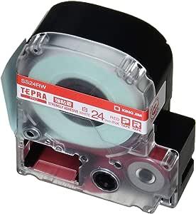 キングジム テープカートリッジ テプラPRO 強粘着 24mm 白 SS24RW