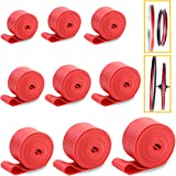YG_Oline 9 Pack Bicycle Tire Liners, Red Bike Rim Strip Rim Tape, Tire Strap Inner Tube, Tire Protector Kits Set(29, 27.5, 26