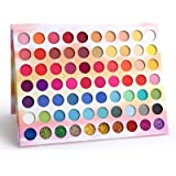 70 Color Eyeshadow Palette Glitter Powder Sequins Metallic Waterproof Glitter Eyeshadow Palette Professional Pigmentation Mat