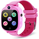 Prograce Kids Smart Game Watch with 90°Rotatable Camera Touch Screen Digital Wrist Watch Smartwatch for Girls Kids Electronic