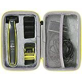 co2crea Hard Travel Case for Philips Norelco OneBlade QP2520/90 / QP2630/70 / QP2520/72 Face Body hybrid electric trimmer sha