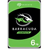 Seagate Barracuda 6TB Internal Hard Drive HDD – 3.5 Inch SATA 6 Gb/s 5400 RPM 256MB Cache for Computer Desktop PC (ST6000DM00