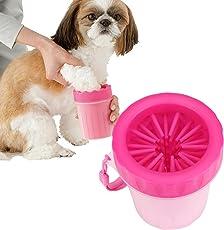 犬 足洗い ブラシカップ ペット足用クリーナー 愛犬のお散歩帰りのかんたん足洗い (S-M)