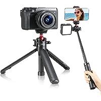 【改良版】Ulanzi MT-16 カメラ三脚 4段延長 自撮り棒 カメラグリップ 3WAY ホットシュー付き VLOG…