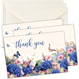 Sympathy Thank You Bereavement Cards with Butterflies - Includes Envelopes - Set of 25