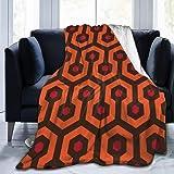 FUNINDIY Overlook Hotel Carpet Flannel Fleece Throw Blanket, Soft Warm Cozy Lightweight Kids Toddler Pet Blanket for Sofa Bed