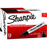 Sharpie King Size Permanent Marker | Large Chisel Tip, Great for Poster Boards, Black, 12 Count