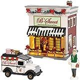 """Department56 Original Snow Village B-Sweet Shop Lit Building and Accessories, 6.97"""", Multicolor"""