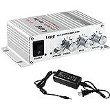 Lepy Hi-Fi ステレオアンプ デジタルアンプ カー アンプ パワーアンプLP-268 [LP-268+AC電源アダプター(5A)]