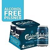 CARLSBERG Alcohol-Free Pilsner Beer Can, 330 ml (Pack of 4)