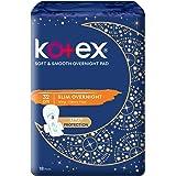 Kotex Soft and Smooth Slim Overnight 32cm Pads, 18 Pads