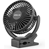 OPOLAR 2019 New 5000mAh Rechargeable Battery Operated Clip On Fan, Upgrade Quieter & Stronger Wind, 10W Fast Charge, Strong C