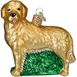 Old World Christmas Ornaments: Golden Retriever Glass Blown Ornaments for Christmas Tree