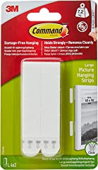 Command 17206-ES Large Picture Hanging Strips, White 4 Pairs