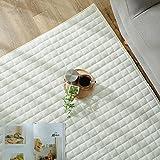 グラムスタイル ラグ カーペット キルトラグ タオル地 綿100% 洗濯機で洗える 2畳 (190x190cm) アイボリー
