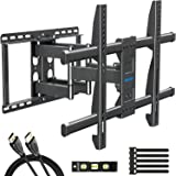 MOUNTUP Full Motion TV Wall Mount Bracket for 42-70 Inch Flat Screen/Curved TVs, Wall Mount TV Bracket - Articulating Arms wi