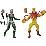 "Marvel - Legends Series - 6"" Rogue and Pyro - Premium Design with 6 Accessories - Action Figure and Toys for Kids - Boys and"