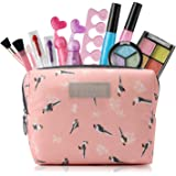 Kids Makeup Kit for Girls with Cosmetic Bag, Girls Makeup Toys Set for 3-8 Year Old Kids