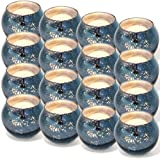 DerBlue 16Pcs Round Mercury Glass Votive Candle Holders for Wedding Centerpieces, Valentines Dinner, Garden Tub and Any Theme