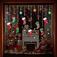 eroute66 Christmas Stocking Ball Wall Sticker Window Glass Decal DIY Holiday Xmas Decor