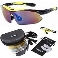 FERRY 偏光镜片 运动太阳镜 全套 专用替换镜片 5片 中性 7种颜色