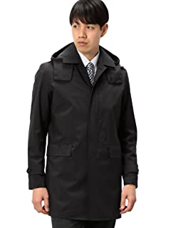 Gelanots Hooded Balmacaan Coat 3125-699-0407: Black