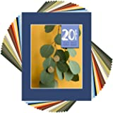 Golden State Art Pack of 20 MIXED COLORS 11x14 Picture Mats Matting with White Core Bevel Cut for 8x10 Pictures