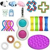 20PCS Fidget Toy Set, Sensory Fidget Toys,Handheld Mini Fidget Toy, Fidget Simple Dimple Toy Stress Relief Hand Toys, Unique