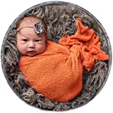 Sunmig Newborn Baby Stretch Wrap Photo Props Wrap-Baby Photography Props (Orange)