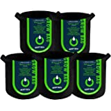 OPULENT SYSTEMS 5-Pack 3 Gallon Heavy Duty Aeration Fabric Grow Bags Thickened Nonwoven Fabric Containers for Potato/Plant Po